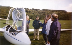 Deaf visitors at Dunstable in 1998