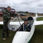 Tim doing his pre-flight checks.  Don't forget the rudder!