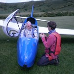 Mark & John preparing for flight